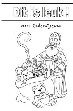 Onderwijs en zo voort ........: 1844. Sinterklaas kleurplaten : Voeg je eigen teks...