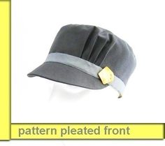 Cap pleated detail hat SEWING PATTERN medium size sewing by McHats, $13.95