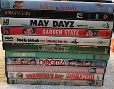 Lot Of 11 DVDs Assorted Movies Driven May Dayz Dogitia Grandmas Boy Garden State  | eBay