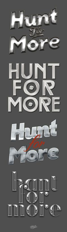 HUNT FOR MORE