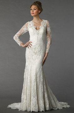 Danielle Caprese - Sweetheart Sheath Gown in Lace