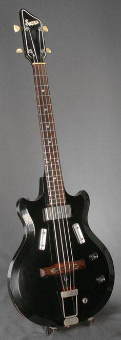 bass guitars   1960′s Supro Airline Pocket Bass Guitar