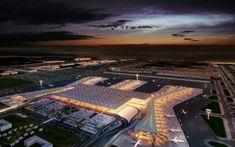 Por la vía del aeropuerto más grande del mundo