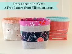 fabric bucket banner
