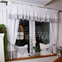 komplet bawełniany, firany, zasłony Home Room Design, House Rooms, Valance Curtains, Home Decor, Ideas, Rustic Interiors, Laundry Rooms, Houses, Decorating Kitchen