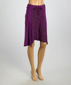 Another great find on #zulily! Purple Drawstring Sidetail Skirt by Windhorse #zulilyfinds