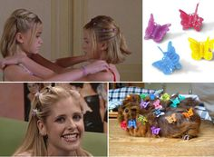 Butterfly Clips! BAH I had a billion of these! The glitter ones were my favorite :)