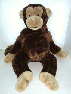 "animal adventure plush  10/"" pink purple monkey ape lovey cute"