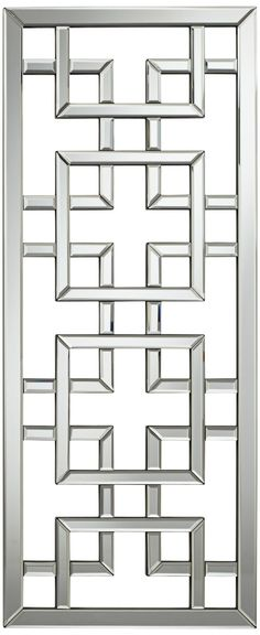 Refresh your interior space with this rectangular wall mirror. This geometric openwork design is inspired by traditional latticework on Asian screens. Balcony Railing Design, Iron Gate Design, Window Grill Design Modern, Interior Design Trends, Window Design, Steel Door Design, Grill Door Design, Interior Design Living Room
