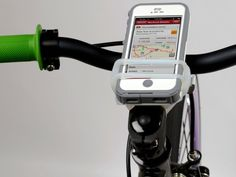 The HandleBand Smartphone Bike Mount is a universal mount that provides a secure attachment and access to almost any phone on almost any sized handle bar. GetdatGadget.com/handleband-smartphone-bike-mount/