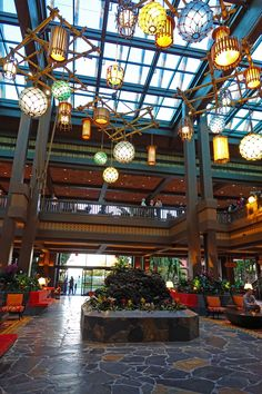 Polynesian Master Bedroom - globes on ceiling - New Polynesian Lobby at Walt Disney World - (photo by Halley PS) Disney Vacation Club, Disney Vacations, Disney Trips, Family Vacations, Family Travel, Vacation Spots, Disney Theme, Disney Fun, Disney Magic