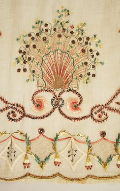 ~ Beautiful Embroidery On Piña Cloth Dress ~ (1810 To 1812) Spanish