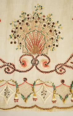 ~ Beautiful Embroidery On Piña Cloth Dress ~ (1810 To 1812) Spanish