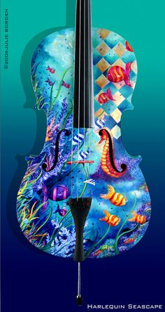 Awesome hand-painted cello  ♥ ♥ www.paintingyouwithwords.com