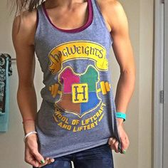 Hogwarts is totally on my bucket list of things to do before I die, I need to find my wand, have butter beer, get me an owl, and perfect my patronus. Nate cannot stand watching the movies with me because I'll quote them all the way through . Love my tank from @activateapparel  felt the magic this morning in the gym.