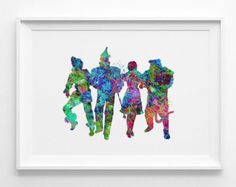 Wizard of OZ printable instant download colorful art nursery art for kids posters watercolor digital download (019)