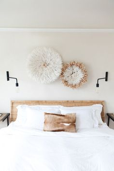 above the bed art /