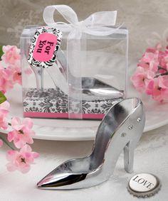 High Heel Shoe Design Bottle Opener in Damask Gift Box