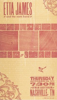 Poster by Brad Vetter Design :: Hatch Show Print