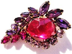 Vintage Weiss Rhinestone Brooch Jewelry............VJSE GROUP TEAM by MartiniMermaid on Etsy