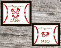 Valentine's Day Dad Gift Father's Day Gift by Raising3Cains Keepsake Baseball handprint kids baby PRINTABLE gift Dad's Valentine's Day gift