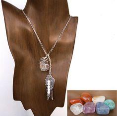 7 #CHAKRAS #Crystal #Gemstone Necklace Set #1 w/ Red Jasper, Carnelian, Citrine, Amazonite, Blue Aventurine, Amethyst, Crystal Quartz - by MayanRoseShop on #Etsy #MayanRose Mayan Rose