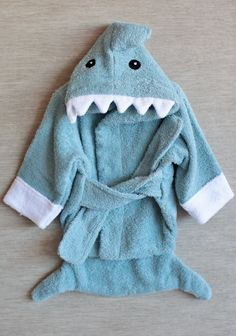Let The Fin Begin Terry Shark Robe