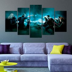 Harry Potter Canvas Print Voldemort 5 Panel by CharmOfCanvasArt