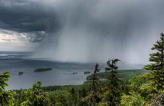 Finland 8.8.2015.Sade iskee Pieliseen,by Marko Kontkanen, Lieksassa Koli. || Storm hitting lake Pielinen
