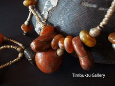 ETHIOPIAN ethnic inspired designer necklace. Berber, Eritrea, Broque, OOAK, coptic, Celtic, Faux amber, statement jewelry, clay, Boho by Timbuktugallery on Etsy