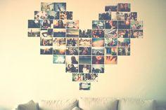 coração com fotos na parede http://numerosfiguras.blogspot.com.br/2013/01/decoracao-fotos-na-parede-em-forma-de.html