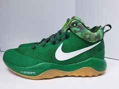 19decfb9292 New Men s NIKE ZOOM REV LMTD BASKETBALL SHOES GORGE GREEN WHITE Size 9