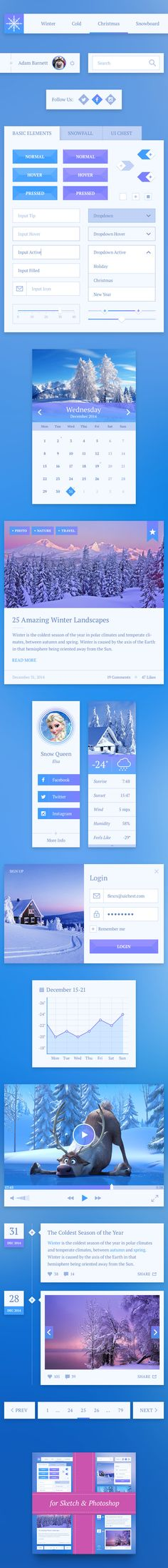Snowflake UI Kit Free on Behance #UX/UI #Design