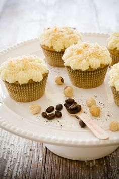 Hazelnut Coffee Cupcakes - an excuse to buy more Mascarpone! Yippee!