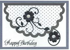 black & white Happy Birthday