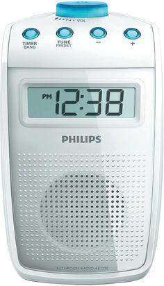 Philips AE2330 badkamerradio. Ik wil heel graag een doucheradio voor muziek, tijd én een TIMER!! Zodat er max. 5 min. gedouched wordt voortaan....