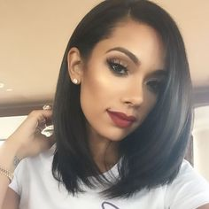 #Lace Front #BOB #Wigs Brazilian Remy Human #Hair Wigs Natural Color only at $92.00.