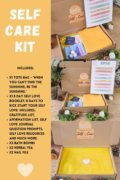 Self care kit, Self care boxSelf care package Care Package her Care package FriendSelf care gift box Stress care package Happiness kit New mom care package Self love Care Package Friend Break up Care Package I miss you Self care journal Treat yo self Anxiety kit Relaxation kit Happiness kit Birthday gift box Thank you gift box Thinking of you Gratitude journal Bath Bomb Gift SET Treat Box Simple Quotes, Cute Quotes, Happy Quotes, Positive Quotes, Motivational Blogs, Inspirational Quotes, Discovery Quotes, Anxiety Self Help, Self Love Books