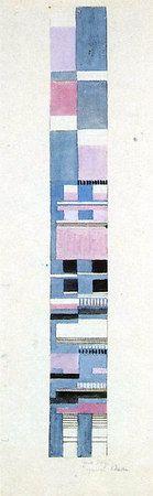 Design for a Jacquard woven fabric  Circa 1928  50.7x6 cm  Bauhaus-Archiv Berlin