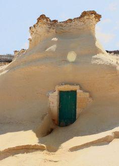 Sand Dwelling, Gozo Island. Malta
