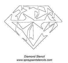 diamond-outline-tattoo-stencil.gif (1200×1103)