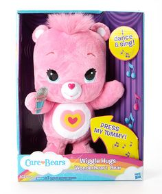 Look what I found on #zulily! Care Bears Wiggle Hugs Wonderheart Bear by Care Bears #zulilyfinds