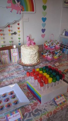 Rainbow unicorn party #rainbow #unicorn