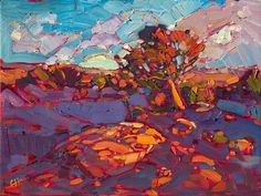 Canyon de Chelly small oil painting impressionist landscape