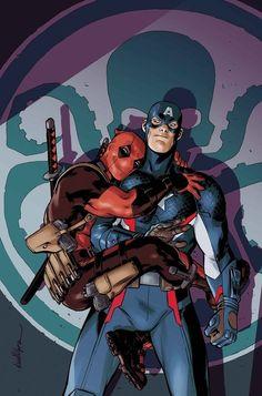 Hail Hydra: Deadpool & Capitão América.