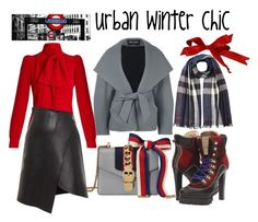 """""""Urban Winter Chic"""" by boutiquebrowser ❤ liked on Polyvore featuring Balmain, Dsquared2, Sonia Rykiel, Gucci, Nina Ricci and Burberry"""