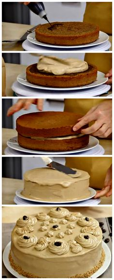 Coffee Cake. With a perfect balance of coffee and hazelnuts, that will amaze both you and your guests! Click for the recipe.http://www.ifood.tv/recipe/coffee-cake-recipe