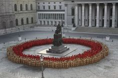 Spencer Tunick. Nude public art performance of wagner's 'the ring' opens munich opera festival