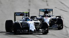 #MOTORSPORTS  #MOTORS   BAKU, AZERBAIJAN - JUNE 19: Valtteri Bottas of Finland driving the (77) Williams Martini Racing Williams FW38 Mercedes PU106C Hybrid turbo and Lewis Hamilton of Great Britain driving the (44) Mercedes AMG Petronas F1 Team Mercedes F1 WO7 Mercedes PU106C Hybrid turbo battle for position on track during the European Formula One Grand Prix at Baku City Circuit on June 19, 2016 in Baku, Azerbaijan.  (Photo by Mark Thompson/Getty Images)