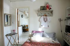 gingham + white + pillows + hint of pink & gold